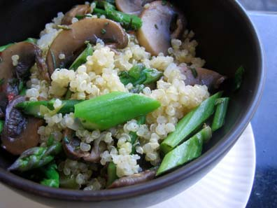 From the CSA Files: Quinoa Mushroom Pilaf | The Whole Kitchen