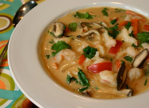 Thai Red Curry Soup with Shrimp | The Whole Kitchen