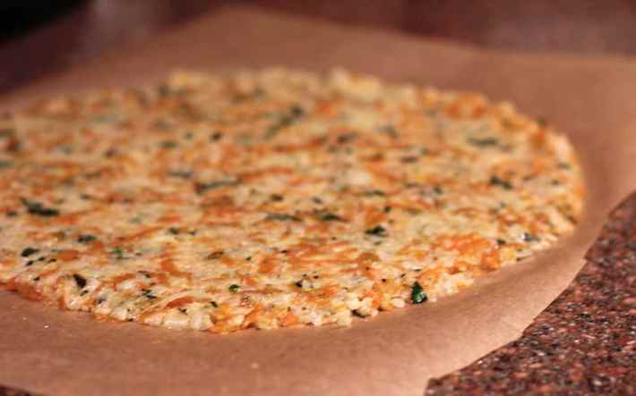 cauliflower and sweet potato pizza crust