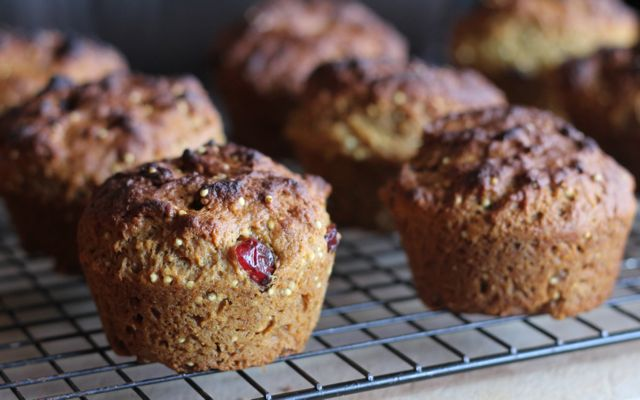 Gluten free orange cranberry muffins with millet