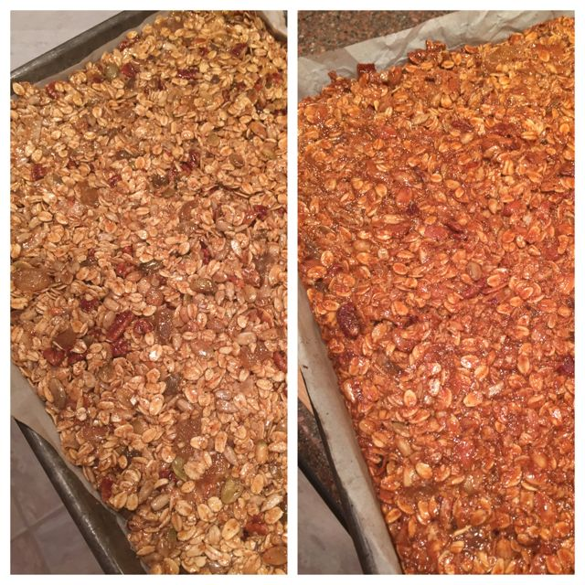 olive oil granola bars before and after