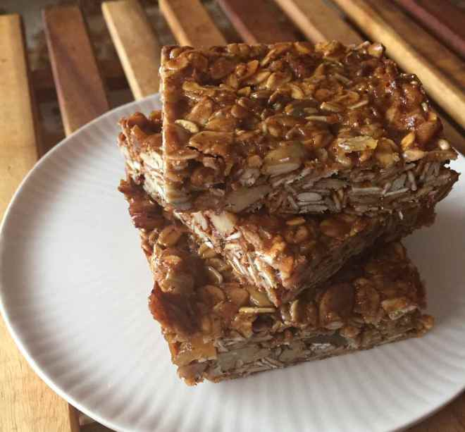 olive oil maple granola bars